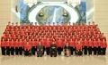 Kim Jong-un y la troupe artística norcoreana