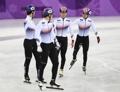 El equipo de patinaje sobre pista corta