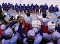 El partido de 'hockey' de Corea contra Japón