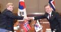 Poignée de main Séoul-Oslo