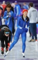 La patinadora de velocidad Lee Sang-hwa