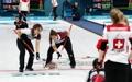 Prueba femenina de 'curling' de Corea del Sur-Suiza