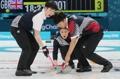 'Curling' masculino entre Corea del Sur y el Reino Unido