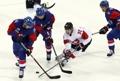 Match de hockey sur glace Corée du Sud-Suisse