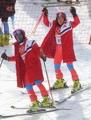 Skieurs alpins nord-coréens