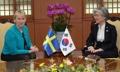 Reunión de las cancilleres de Corea del Sur y Suecia