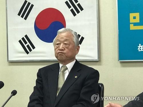 """여건이 재일민단 단장 """"헤이트스피치 근절·지방참정권에 역점"""""""