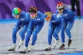 Entraînement de patineurs de vitesse