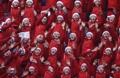 Las animadoras norcoreanas