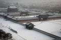 Palais royal sous la neige