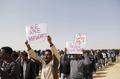 """""""이스라엘 못 떠나""""…아프리카 이주민 수백명 항의시위"""
