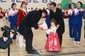 Las animadoras norcoreanas en Corea del Sur
