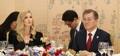 El presidente surcoreano e Ivanka Trump