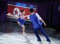 Patinadores norcoreanos en un espectáculo de gala