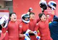 Bobeurs à quatre sud-coréens