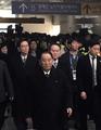 La delegación norcoreana se dirige a PyeongChang
