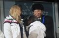 (الاولمبياد)الرئيس مون مع ضيوف أولمبياد