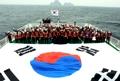 独島の前で「大韓民国万歳」