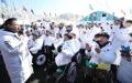 韓国選手団が入村式
