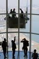 Limpieza de primavera en la torre Lotte World Tower