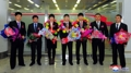 N. Korean wrestlers return with gold medals