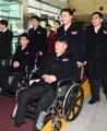 La delegación norcoreana para las Paralimpiadas de PyeongChang