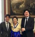 Avec des hommes politiques français d'origine coréenne