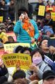 韓国GMの工場閉鎖に反対
