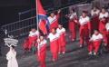北朝鮮選手団が入場