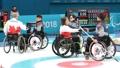 Encuentro de 'curling' sobre silla de ruedas Corea del Sur-Canadá