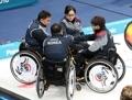 Encuentro de 'curling' sobre silla de ruedas Corea del Sur-Alemania