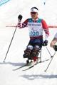 El esquiador de fondo surcoreano Sin Eui-hyun compite en las paralimpiadas