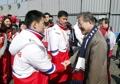 الرئيس مون يلتقي الرياضيين الشماليين المشاركين في أولمبياد بيونغ تشانغ للمعاقين
