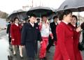 北朝鮮選手団 帰還へ