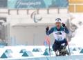 残疾滑雪健儿冲刺