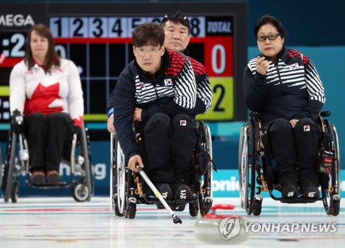-패럴림픽- 휠체어 컬링, 동메달 결정전서 캐나다에 져 4위로 마감