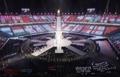 دخول أعلام الدول المشاركة في أولمبياد بيونغ تشانغ للمعاقيين