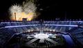 الالعاب النارية لحفل اختتام أولمبياد بيونغ تشانغ للمعاقين