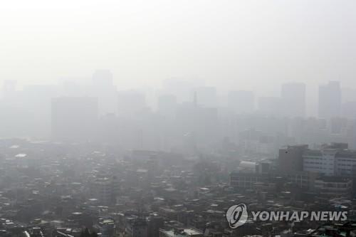 """北도 미세먼지 경보…""""호흡기 약한 사람 마스크 착용"""""""