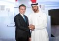 Avec le prince héritier d'Abou Dhabi