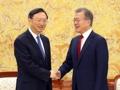 文大統領が中国高官と面会
