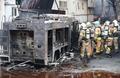 大火事で消防車全焼