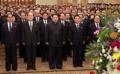 Kim Jong-un au mausolée de Kumsusan