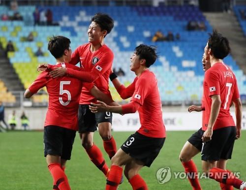 한국 U-19 축구대표팀, 수원JS컵서 모로코 1-0 제압