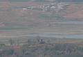 북한 초소와 마을