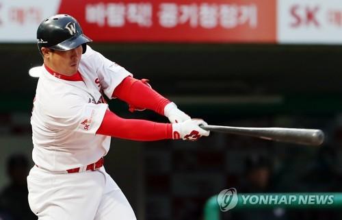SK 최정 11호 대포 '쾅'…홈런 공동 선두로 도약