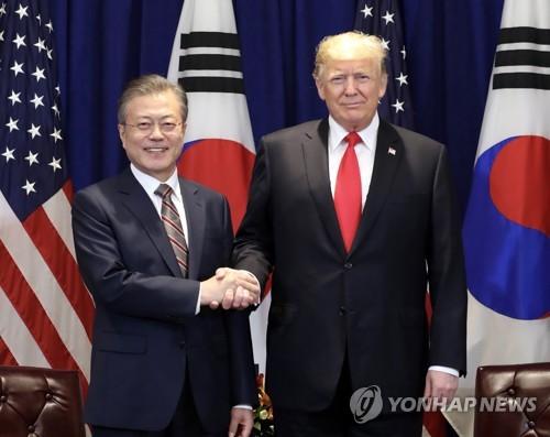 (4e LD) Moon et Trump discutent de «mesures correspondantes» pour la dénucléarisation de la Corée du Nord