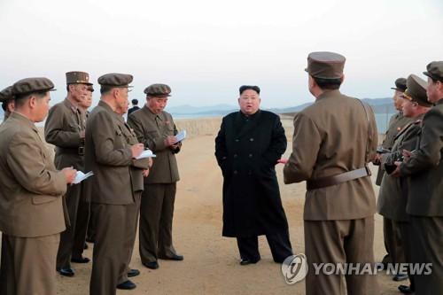 (2e LD) Kim Jong-un assiste au test d'une nouvelle arme de pointe