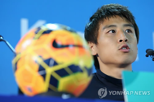 资料图片:韩国队队长具滋哲(韩联社)