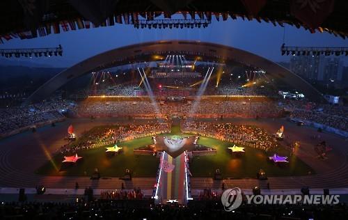 2015光州大运会闭幕现场(韩联社)